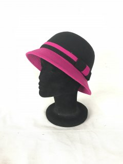 HA0277B THIS IS A CUTE FELT NARROW BRIMMED HAT WITH A CONTRAST BOW AND BRIM FEATURE THIS STYLE IS AVAILABLE IN 4 COLOURS BLUEBLK TANBLK PINKBLK AND REDBLK. Please Click the image for more information.