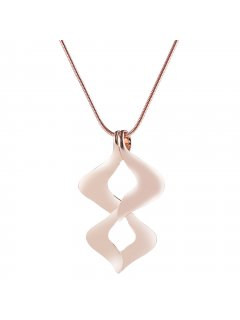 10864B ROSE GOLD NECKLACE WITH TWISTED INFINITY DROP Please Click the image for more information.