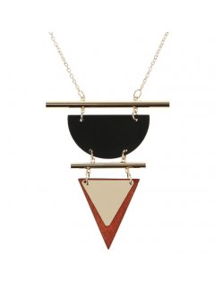 10852 GOLD NECKLACE  TRIANGLE DROP Please Click the image for more information.
