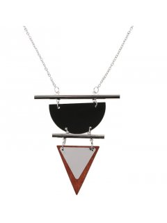 10852A SILVER NECKLACE WITH TRIANGLE DROP Please Click the image for more information.