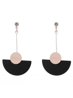 E0684B ROSE GOLD EARRINGS WITH HALF CIRCLE Please Click the image for more information.