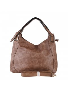 H0889C LADIES BROWN HANDBAGINC LONG AND SHORT STRAP Please Click the image for more information.