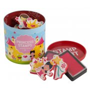 Princess Stamps 10 stamps and 2 ink pads in a great container  never lose your stamps this way Please Click the image for more information.