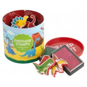 Dinosaur Stamps 10 stamps and 2 ink pads in a great container  never lose your stamps this way Please Click the image for more information.