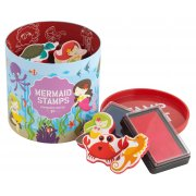 Mermaid Stamps 10 stamps and 2 ink pads in a great container  never lose your stamps this way Please Click the image for more information.