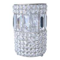 Round crystal candle holder Round crystal candle holder with long crystals Please Click the image for more information.