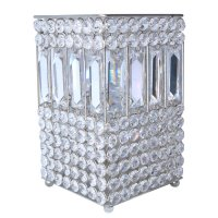 Square crystal votive holder with long rect. crystals Square crystal votive holder with long rect crystals Please Click the image for more information.