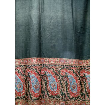 19th Century Paisley Shawl 19th Century wool jacquard woven Kashmir  Shawl  This shawl is in good condition  There are some areas where the fabric is thinning in the central brown section  Th. Please Click the image for more information.