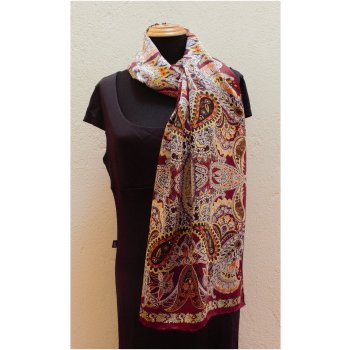 Silk Satin Shawl with Paisley Design This luxurious soft silk satin shawl has a vibrant paisley  design  The fabric is a glossy silk satin with a beautiful drape  P. Please Click the image for more information.
