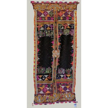 Vintage Rabari wedding shawl This Indian Rabari wedding shawl is made from hand loomed Gujarati wool and is embellished by hand using traditional designs including tie dyeing needle lace  and embroidery . Please Click the image for more information.