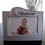 Christening Photo Frame My Christening Photo Frame  This is a gorgeous gift  much better than only a photoA beautiful contemporary matted silver finish Free s. Please Click the image for more information.