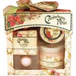 CANTERBURY ROSE GIFT PACK This delightful Window Pack comes neatly packaged with a matching box and ribbon It contains a 60ml body scrub 60ml body butter 45g body soap and 2 x 6g bath fizzers Canter. Please Click the image for more information.