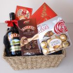 Baileys and Chocolate Indulgence Gift  Great indulgence package for a special night inAn ideal gift for other gift date on your calendar like Christmas Easter Fathers Day or a birthdayIncludes700ml Bottle of Baileys Irish CreamBag of Baileys Irish cream ChocolatesBox of Ferrero Rocher ChocolatesBouchee ChocolatesBox of Lindt Milk Chocolate AssortmentBox of Cadbury RosesPresented in a deep woven seagrass basket or gift box Please Click the image for more information.