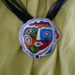 Funny Face Costume Necklace This latest fashion necklace features a brilliantly coloured funny face medallion imbedded with sparkle jewels for the eyes . Please Click the image for more information.