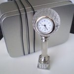 Golf Ball Desk Clock Make anytime golf timeGive the golfer on your list this classy small clock for the desk or table in the home or officeso tha. Please Click the image for more information.