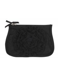 BLACK SATIN COSMETIC PURSE WITH ORGANSA ROSETTE BLACK SATIN COSMETIC PURSE WITH ORGANSAROSETTE19CMX13CM Please Click the image for more information.