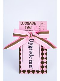 LUGAGGE TAGUPGRADE ME  UPGRADE ME LUGGAGE TAG ON BACKING BOARD Please Click the image for more information.