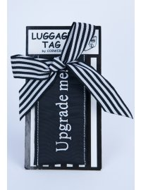 LUGGAGE TAG UPGRADE ME BLACK AND WHITE UPGRADE ME LUGGAGE TAG IN BLACK AND WHITE Please Click the image for more information.