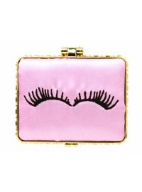 PINK EYELASHES COMPACT PINK SATIN MIRROR COMPACT WITH BLACK EYELASHES Please Click the image for more information.