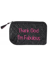 COSMETIC PURSE THANK GOD I'M FABULOUS PINK AND BLACK COSMETIC PURSETHANK GOD IM FABULOUS Please Click the image for more information.