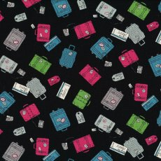 Luggage Black Packing your bags for a trip away This fabric would make a great choice for a travel bag kids backpack or travel journal. Please Click the image for more information.