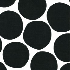 Pompom Black Wide Width Pompom fabric designed by Swedish designer Bitte StenstramA larger scale bold spot printed on a beautiful cottonlinen blend would look striking made into curtains blinds cushions linen lampshades and other home decorating items for the home. Please Click the image for more information.
