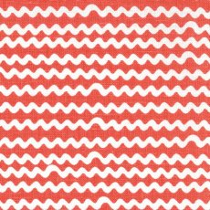 Mello Coral Red Wide Width Remnant Mello fabric designed by Swedish designers Emma von Brmssen  Linda BrinkA contemporary ripple stripe printed on a beautiful cottonlinen blend Looks st. Please Click the image for more information.