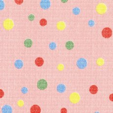 Spots Multi on Pink Remnant A sweet multicoloured confetti style spot on a beautifully soft textured 100 cotton Please Click the image for more information.