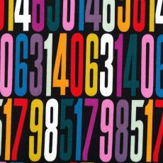Alexander Henry Countdown Multi on Black Alexander Henry Countdown features a larger scale number print This design would look fantastic made into childrens clothing or as a feature cushion or lampshade in a childs bedroom or nursery. Please Click the image for more information.