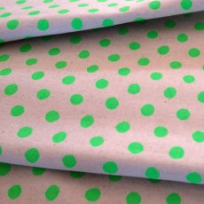 Fluoro Spots Green Medium home decorating weight fluoro polka dot fabric perfect for cushions napery table runners quilts lampshades etc. Please Click the image for more information.