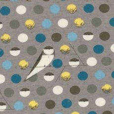 Charley Harper Bank Swallow Blue Organic Cotton   Please Click the image for more information.