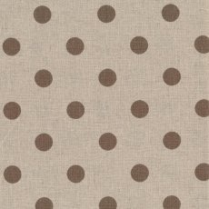 Spots Cocoa on Natural Linen Blend Home decorating weight largerscale spot printed on a cottonlinen blend Suitable for lampshades cushions bags midweight skirts and many other craft and sewing projects. Please Click the image for more information.