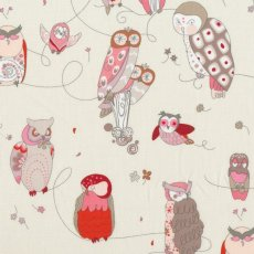 Alexander Henry Spotted Owl Oyster Pink on Ivory  Please Click the image for more information.