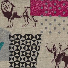 Echino Zon Natural Designed by Japanese textile designer Etsuko Furuya Echino Zon is a fabulous larger scale design of  animals together with geometrics in a unique range of colour tonesA . Please Click the image for more information.