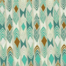 Cotton + Steel August Tribal Aqua on Natural  Please Click the image for more information.