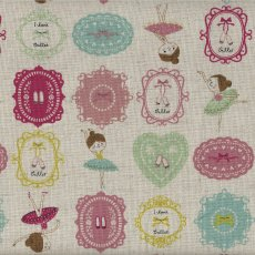 I Love Ballet Mint & Pink Remnant Gorgeous Kokka japanese fabric featuring adorable dancing ballerinas  on a lovely medium weight cottonlinen blend . Please Click the image for more information.