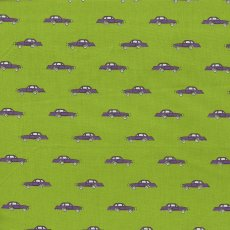 Retro Cars Lime Fabulous boys fabric with a retro car design printed on a 100 cotton sateen giving the top side a satin feel but made with cotton instead of silk. Please Click the image for more information.