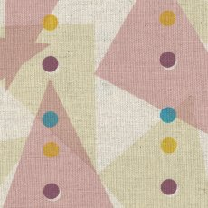 Jubilee Triangles Pink Jubilee is a lovely contemporary Japanese design printed on medium home decorating weight cottonlinen blend . Please Click the image for more information.