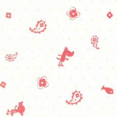Puti de Pome Pup and Paisley Pink Adorable japanese fabric from the Kiyohara fabric collection This lovely design printed on a light weight cottonlinen blend would be perfect for newborn handmade projects. Please Click the image for more information.