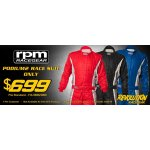 RPM PODIUM 2  RPMs newest entry level 3 layer suit features a durable Nomex outer layer with two lightweight Nomex knit inner layers providing great comfort and protection . Please Click the image for more information.