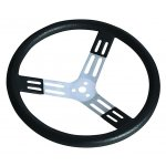 17inch Aluminium Steering Wheel Smooth thick PolyUrethane rim for better grip and less wrist and arm strain 15 and 17inch wheels are available in black steel or finished aluminium spokes. Please Click the image for more information.