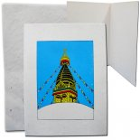Stupa Card Made of handmade paper in Nepal Swoyambhu Stupa The soul of every living being in the form of self originated light Pa. Please Click the image for more information.