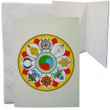 Eight Auspicious Symbols of Buddhism x 4 Hand made paper card from Nepal Comes in set of four cards in same design the cards are blank inside. Please Click the image for more information.
