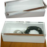 Yugeli 'Crystal top white box Large This high quality convenient box is called man made crystal the lid looks just like crystal and is solid in structure . Please Click the image for more information.