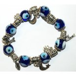 Blue Eye Charm Bracelet, 70mm diameter Blue Eye Charm Bracelet on stretchy cord 70mm diameter Please Click the image for more information.