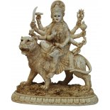 Durga sitting on Tiger Statue Durga sitting on Tiger Statue IvoryCream Matt Finish H  145mm x W  125mm Please Click the image for more information.