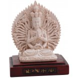 Dizan Statue Ivory on Rosewood stand Dizan Statue Ivory on Rosewood stand H100 x W80 x D80mm Please Click the image for more information.