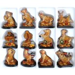 Astrology Animals Statues, Set of 12, Gold Astrology Animals Statues Gold Set of 12 Each Statue Approx  H  75 x W  75mm Please Click the image for more information.