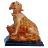 Dog Statue, Peach Gold on Black Stand, H: 80 x W: 72 x D: 50mm Dog Statue Peach Gold on Black Stand H 80 x W 72 x D 50mm Please Click the image for more information.
