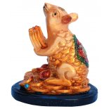 Rat Statue, Peach Gold on Black Stand, H: 75 x W: 50 x D: 75mm Rat Statue Peach Gold on Black Stand H 75 x W 50 x D 75mm Please Click the image for more information.